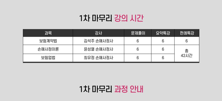 손해사정사 1차 최종 마무리과정